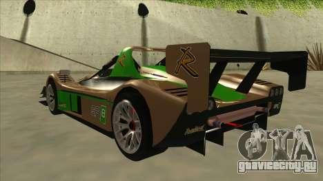 Radical SR8 RX для GTA San Andreas вид сзади
