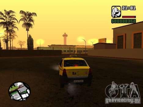 Dacia Logan 2008 LS Taxi для GTA San Andreas вид сзади слева