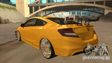 Honda Civic SI 2012 для GTA San Andreas вид сзади
