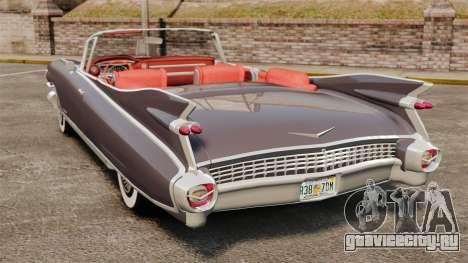Cadillac Eldorado 1959 v1 для GTA 4 вид сзади слева