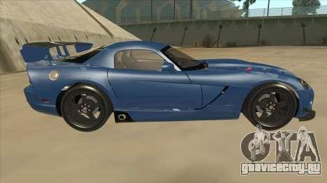 Dodge Viper SRT-10 ACR TT Black Revel для GTA San Andreas вид сзади слева