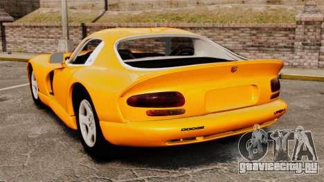 Dodge Viper 1996 для GTA 4 вид сзади слева