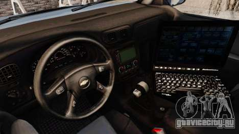 Chevrolet Trailblazer 2002 Massachusetts Police для GTA 4 вид сзади