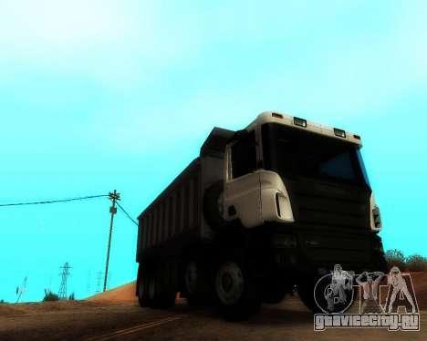 Scania P420 8X4 Dump Truck для GTA San Andreas вид справа