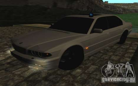 BMW 750iL E38 с мигалками для GTA San Andreas вид изнутри