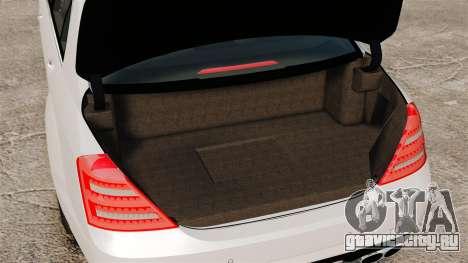 Mercedes-Benz S65 W221 AMG Stock v1.2 для GTA 4 вид изнутри