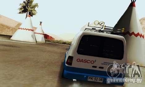Chevrolet Combo Gasco для GTA San Andreas вид справа