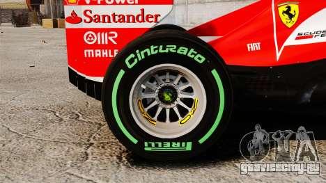 Ferrari F138 2013 v3 для GTA 4 вид сзади
