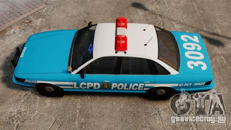 LCPD Police Cruiser для GTA 4 вид справа