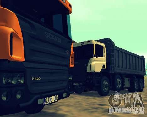 Scania P420 8X4 Dump Truck для GTA San Andreas салон