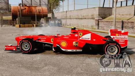 Ferrari F138 2013 v6 для GTA 4 вид слева