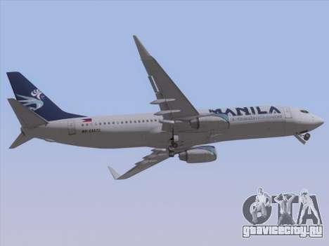 Boeing 737-800 Spirit of Manila Airlines для GTA San Andreas вид изнутри