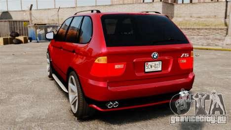 BMW X5 4.8iS v3 для GTA 4 вид сзади слева