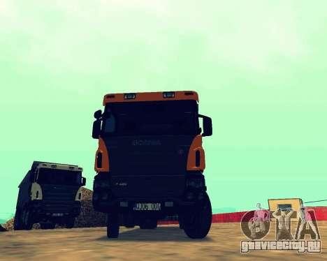 Scania P420 8X4 Dump Truck для GTA San Andreas вид сзади