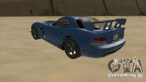 Dodge Viper SRT-10 ACR TT Black Revel для GTA San Andreas вид сзади