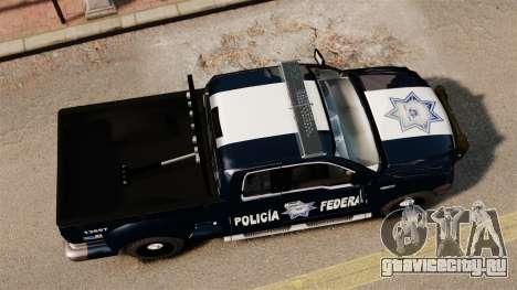 Ford F-150 De La Policia Federal [ELS & EPM] v2 для GTA 4 вид справа