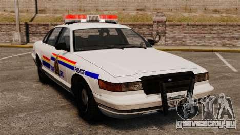 Королевская канадская конная полиция для GTA 4