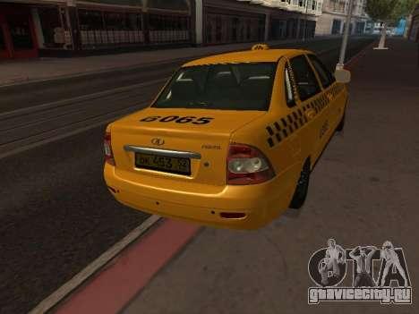 ВАЗ 2170 Приора Такси для GTA San Andreas вид справа