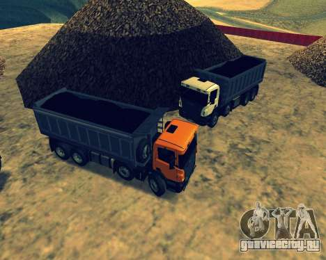 Scania P420 8X4 Dump Truck для GTA San Andreas вид снизу