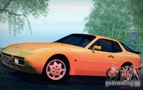 Porsche 944 Turbo Coupe 1985 для GTA San Andreas вид сзади