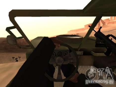 FAV из Battlefield 2 для GTA San Andreas вид справа