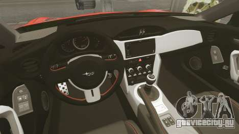 Subaru BRZ Rocket Bunny Aero Kit Hoonigan для GTA 4 вид изнутри