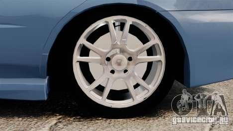 Subaru Impreza WRX 2001 для GTA 4 вид сзади