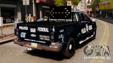 Ford F-150 De La Policia Federal [ELS & EPM] v2 для GTA 4 вид сзади слева