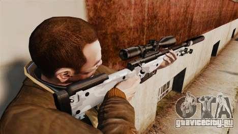Снайперская винтовка AW L115A1 с глушителем v6 для GTA 4 второй скриншот