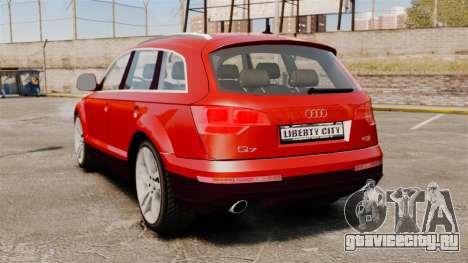 Audi Q7 для GTA 4 вид сзади слева