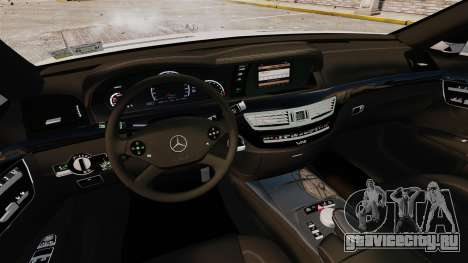 Mercedes-Benz S65 W221 AMG Stock v1.2 для GTA 4 вид сбоку