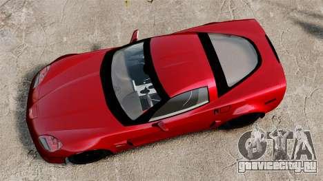 Chevrolet Corvette Z06 для GTA 4 вид справа