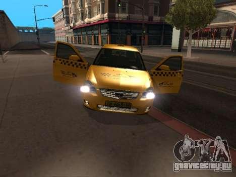 ВАЗ 2170 Приора Такси для GTA San Andreas вид слева