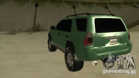 Toyota 4Runner 2009 v2 для GTA San Andreas вид сзади
