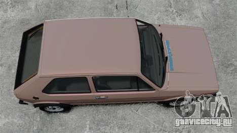 Volkswagen Golf MK1 GTI для GTA 4 вид справа