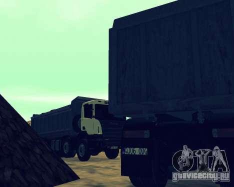 Scania P420 8X4 Dump Truck для GTA San Andreas двигатель