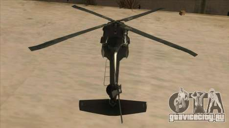 Sikorsky UH-60L Black Hawk Mexican Air Force для GTA San Andreas вид изнутри