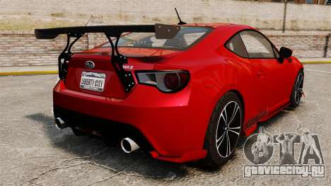 Subaru BRZ Rocket Bunny Aero Kit Hoonigan для GTA 4 вид сзади слева