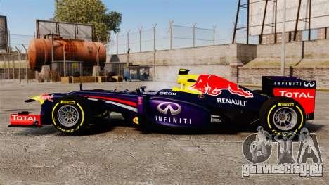 Болид Red Bull RB9 v5 для GTA 4 вид слева