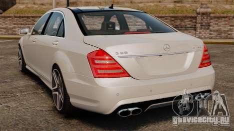 Mercedes-Benz S65 W221 AMG Stock v1.2 для GTA 4 вид сзади слева