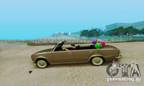 ВАЗ 2101 Кабриолет для GTA San Andreas вид сзади слева