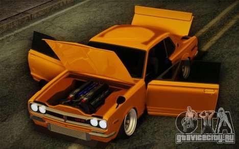 Nissan Skyline 2000GT-R Hoon для GTA San Andreas вид изнутри