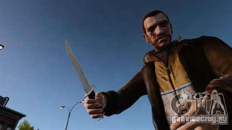 Нож The Alabama Slammer хромированный для GTA 4 третий скриншот