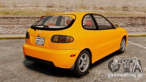 Daewoo Lanos Sport US 2001 для GTA 4 вид сзади слева
