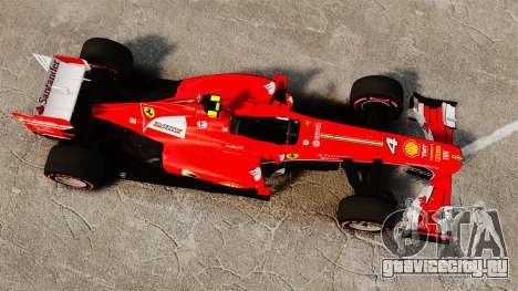 Ferrari F138 2013 v6 для GTA 4 вид справа