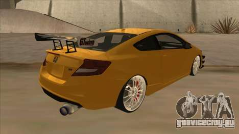 Honda Civic SI 2012 для GTA San Andreas вид справа