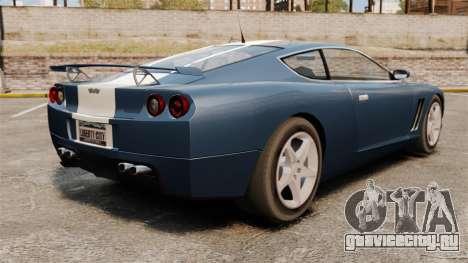 Обновлённый Super GT для GTA 4 вид сзади слева