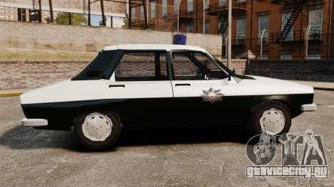 Renault 12 Classic 1980 Turkish Police для GTA 4 вид слева
