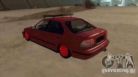 Honda Civic V2 BKModifiye для GTA San Andreas вид сзади
