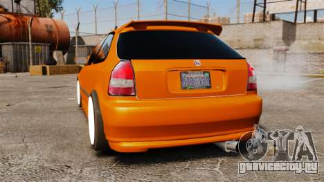 Honda Civic Gtaciyiz 2 для GTA 4 вид сзади слева